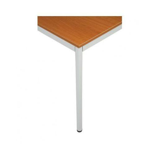 Stół kuchenny - okrągłe nogi, jasnoszara konstrukcja, 1200x800 mm marki B2b partner