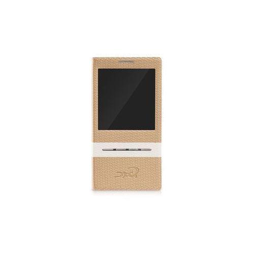 Etui tel.kom.eXc CROCO FIT do Samsung S4, Brązowe, kolor brązowy