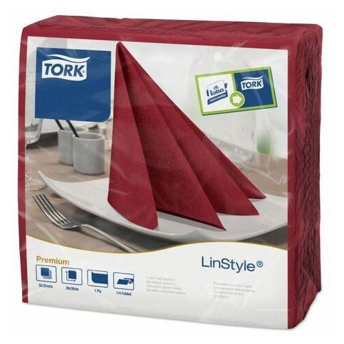 Tork Bordowe serwetki obiadowe premium linstyle®, składane w 1/4