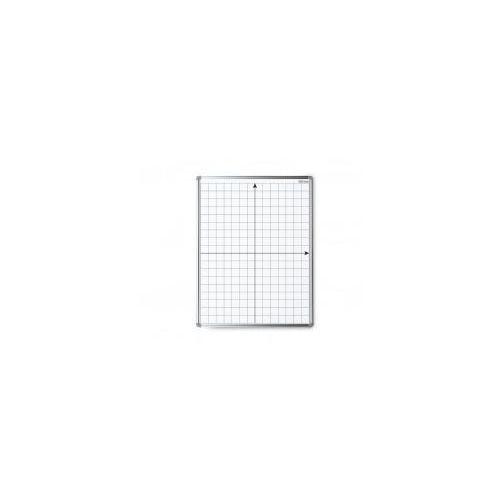 Tablica suchościeralna magnetyczna biała 100x80 cm z nadrukiem - układ współrzędnych marki Allboards