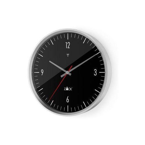 Zack - Zegar ścienny sterowany radiowo 35 cm - czarny - czarny