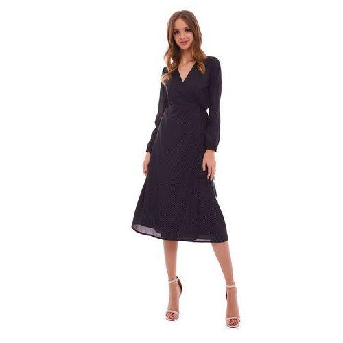 Sukienka marion czarna w kropki marki Sugarfree