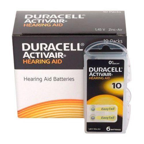 600 x baterie do aparatów słuchowych Duracell ActivAir 10 MF, DURAACTI10