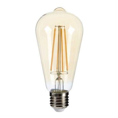 Diall Żarówka led filament gold st64 e27 5 5 w 470 lm przezroczysta barwa ciepła