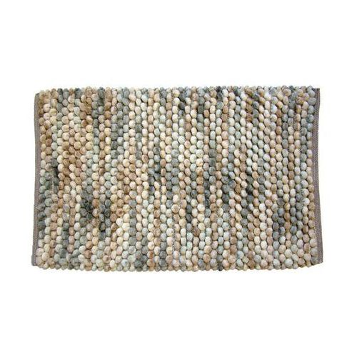Dywanik łazienkowy mosaic beżowy 50 x 80 cm marki Ba-de