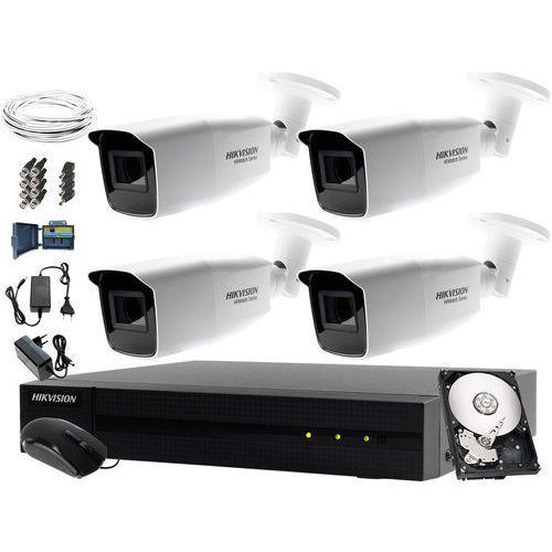 Hikvision hiwatch System monitorujący składowisko wysypisko odpadów hwd-6104mh-g2, 4 x hwt-b323-z, 1tb, akcesoria