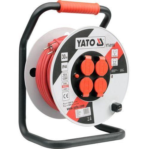 YT-8107 PRZEDŁUŻACZ NA BĘBNIE PLAST. 40M; 3G2,5, YT-8107