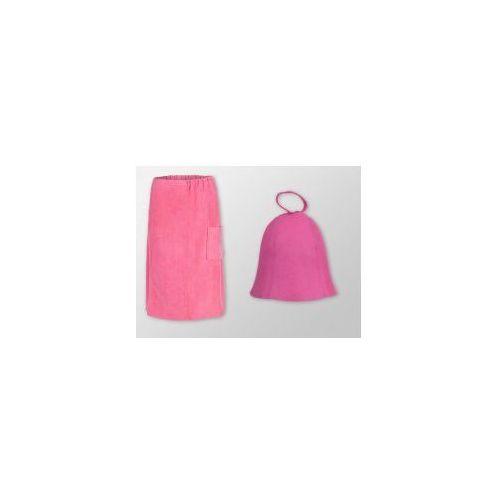 Kilt Ręcznik + Czapka do sauny - Komplet różowy 1