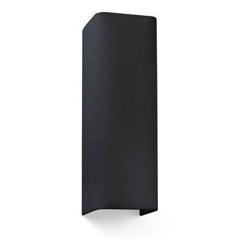 Lampa ścienna Cotton, kątowa, 37 x 12 cm, czarna (8421776169203)
