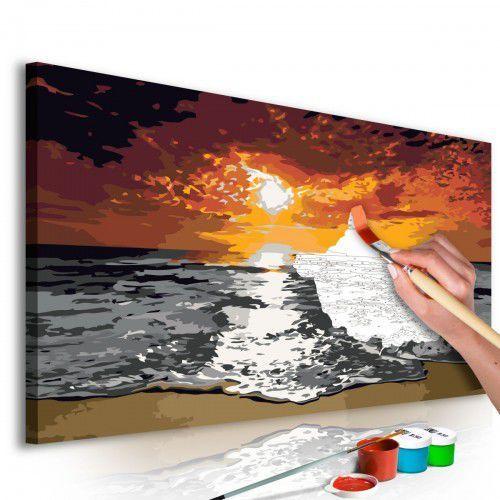 Obraz do samodzielnego malowania - Morze (niebo w płomieniach)