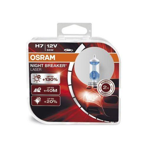 OSRAM H7 12V 55W PX26d NIGHT BREAKER® LASER (do +130% więcej światła, do 40m dłuższy zasięg, do +20% bielsze światło), O-64210NBL-HCB PL