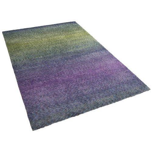 Dywan niebiesko-fioletowy - 80x150 cm - Shaggy - poliester - SOMA - produkt z kategorii- Dywany