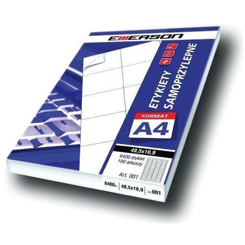Etykiety 105 x 37,0 mm, 16 szt/a4 uniwersalne (g) - x06637 marki Emerson