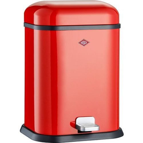 Kosz na śmieci czerwony pedałowy single boy 13 litrów (132212-02) marki Wesco