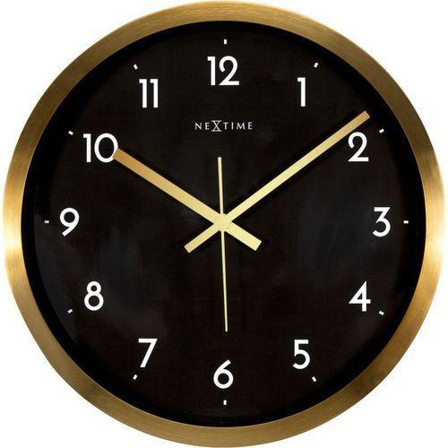 Nextime - Zegar ścienny Arabic - czarny - 44 cm, kolor czarny