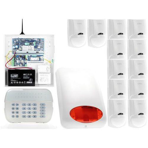 Dsc Za12552 zestaw alarmowy 12x czujnik ruchu manipulator led powiadomienie gsm