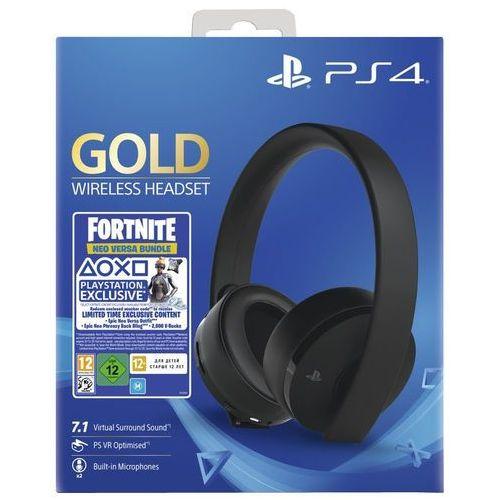 Zestaw słuchawkowy SONY PlayStation Gold + Zestaw do gry Fortnite: Neo Versa, KAK4HEADGOLDF