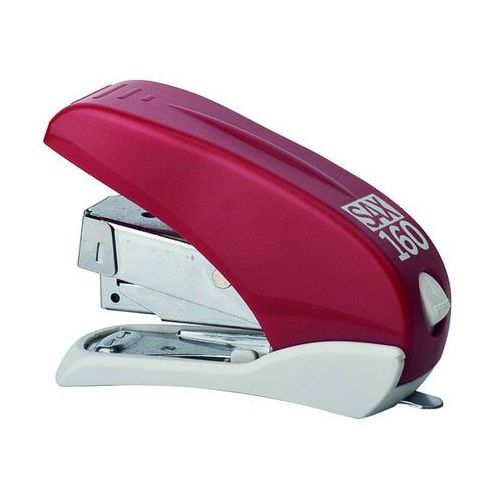 Zszywacz SAX160, zszywa do 16 kartek, front loader, łatwiejsze zszywanie, czerwony