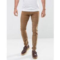 Farah Drake Slim Fit Stretch Cord Trousers in Tobacco - Tan, slim