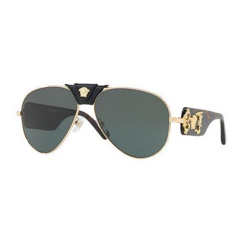 Okulary Słoneczne Versace VE2150Q 100271, kolor żółty