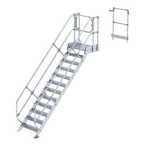 Günzburger steigtechnik Przemysłowy pomost roboczy, moduł do schodów, 11 stopni. najwyższa elastyczność