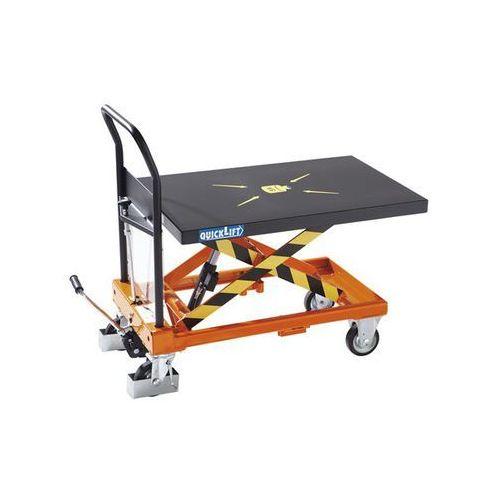 Nożycowy wózek podnośny MAXIMUS, nośność 250 kg, podn. na naciśnięcie pedału z Q