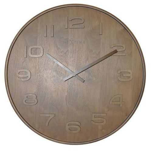 Zegar ścienny wood wood medium naturalne drewno marki Nextime