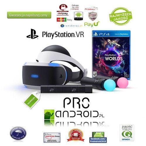 Okulary vr  playstation vr zestaw starter kit ps vr+ps move+ps eye+gra!! wyprodukowany przez Sony