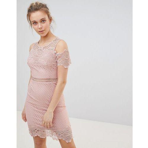 Glamorous Cold Shoulder Dress - Pink, 1 rozmiar