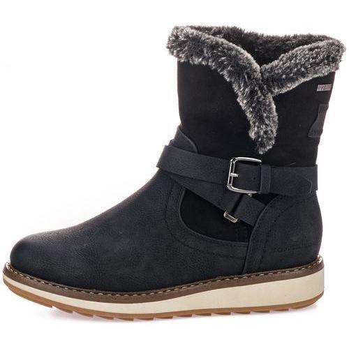 buty za kostkę damskie 37 czarny marki Tom tailor