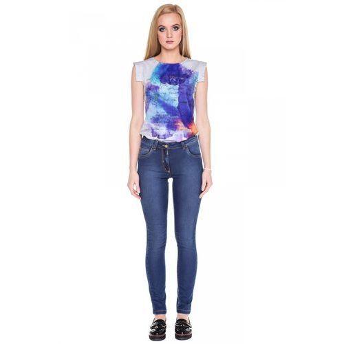 Tova Bawełniane jeansowe spodnie -