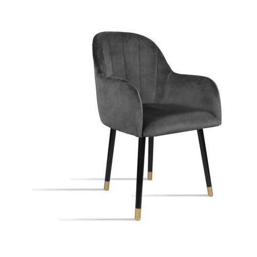 Krzesło BESSO ciemny szary/ noga czarny gold/ TR15, kolor szary