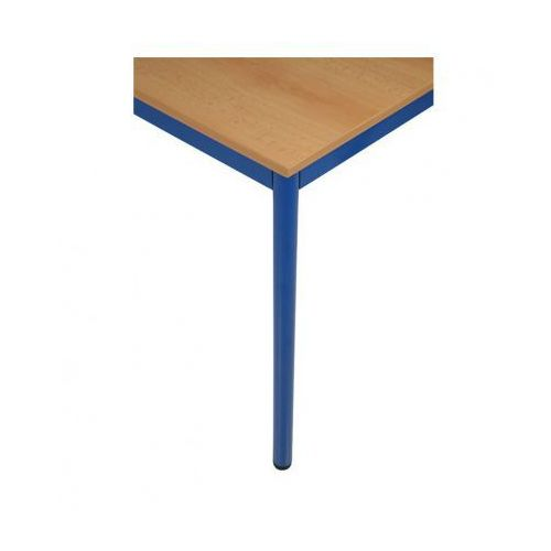 Stół kuchenny - okrągłe nogi, niebieska konstrukcja, 1600x800 mm