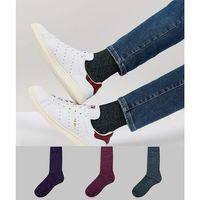 ASOS Socks In Twisted Yarns 3 Pack - Multi