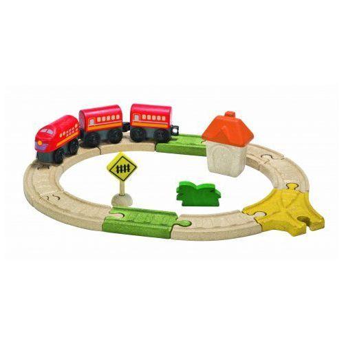 Plan toys Eko kolejka z akcesoriami - mała,
