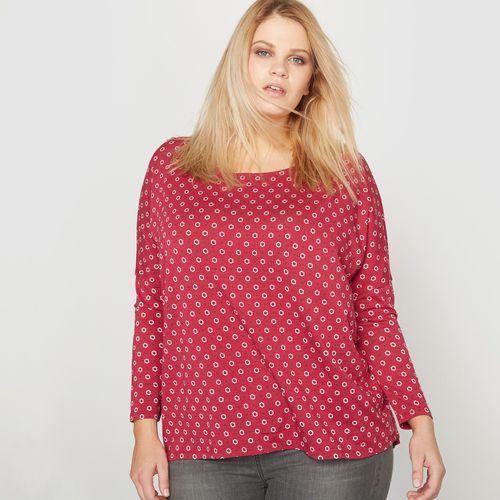 Koszulka oversize z długim rękawem z bawełny i modalu, Castaluna