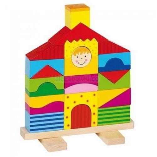 Goki  domek z drewnianych klocków (4013594589147)
