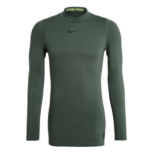 Nike Performance PRO WARM COMPRESSION MOCK Podkoszulki vintage green/volt/black, kolor zielony