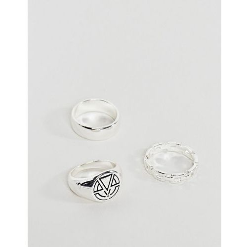 Chained & able signet ring pack in silver - gold