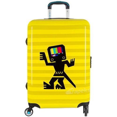 fe7dfe536dc02 urbe duża walizka na 4 kółkach 78 cm / caveman yellow - caveman yellow  marki Bg
