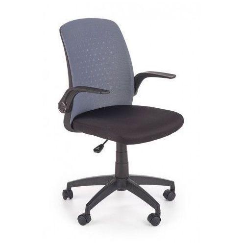 Biurowy fotel obrotowy Kenzo - czarny + popiel, V-CH-SECRET-FOT-POPIEL