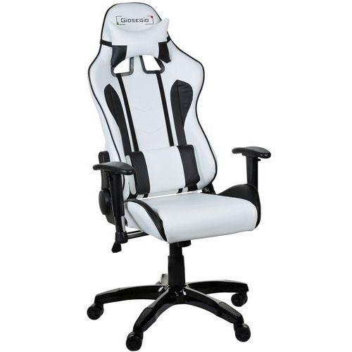 Fotel gamingowy gsa biało-czarny marki Giosedio