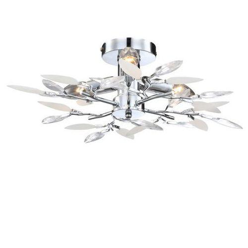 OKAZJA - Plafon LAMPA sufitowa VIDA 63160-4 Globo OPRAWA chrom, kolor Srebrny