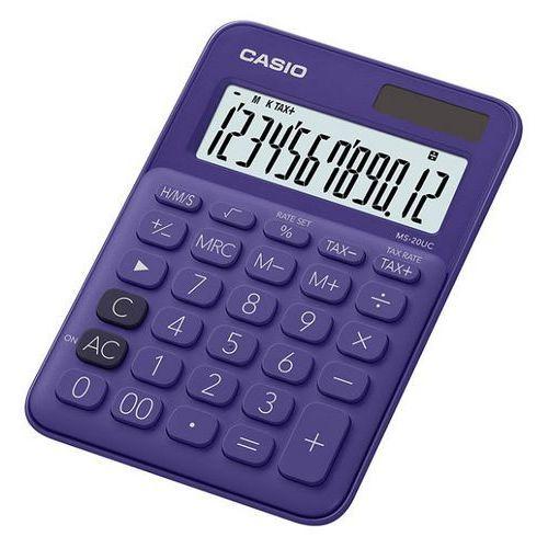Kalkulator ms-20uc-pl-s fioletowy marki Casio