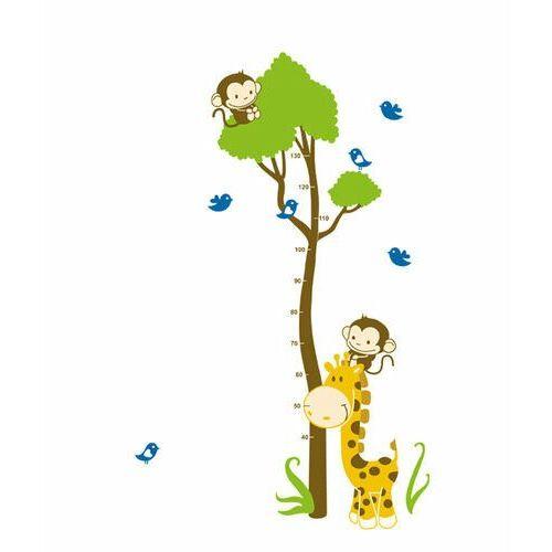 4-home Naklejka dekoracyjna miara żyrafa z małpą