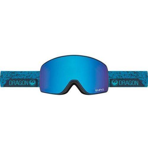 gogle snowboardowe DRAGON - NFX2 - Stone Blue/Blue Steel + Yellow Red Ion (661)