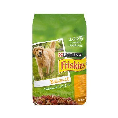 Friskies 10kg balance z kurczakiem i dodatkiem warzyw pełnoporcjowa karma dla dorosłych psów marki Purina