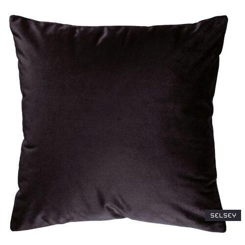 SELSEY Poduszka dekoracyjna Sylvanca w tkaninie EASY CLEAN 45x45 cm czarna bez kedry (5903025413204)