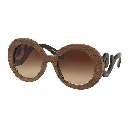 Okulary Słoneczne Prada PR27RSF BAROQUE RAW Asian Fit IAM6S1, kolor żółty
