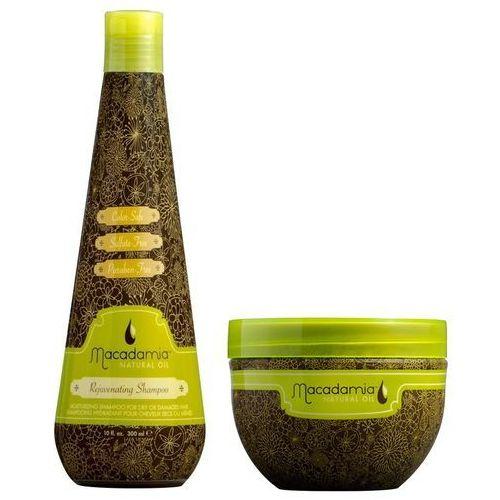 Macadamia zestaw odżywczy   szampon rejuvenating 300ml + rewitalizująca maska 236ml (9753197531181)
